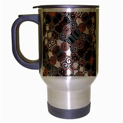 Modern Arabesque Pattern Print Travel Mug (silver Gray) by dflcprints