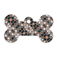Modern Arabesque Pattern Print Dog Tag Bone (one Sided) by dflcprints