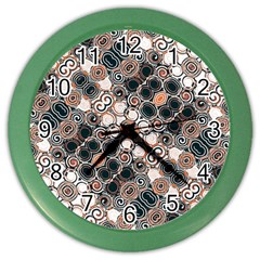 Modern Arabesque Pattern Print Wall Clock (color) by dflcprints