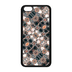 Modern Arabesque Pattern Print Apple Iphone 5c Seamless Case (black) by dflcprints