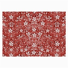 Flowers Pattern Collage In Coral An White Colors Glasses Cloth (large, Two Sided) by dflcprints