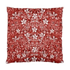Flowers Pattern Collage In Coral An White Colors Cushion Case (single Sided)  by dflcprints