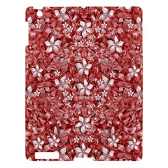 Flowers Pattern Collage In Coral An White Colors Apple Ipad 3/4 Hardshell Case by dflcprints
