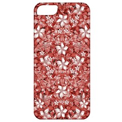 Flowers Pattern Collage In Coral An White Colors Apple Iphone 5 Classic Hardshell Case by dflcprints