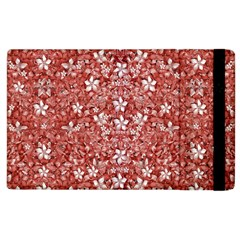 Flowers Pattern Collage In Coral An White Colors Apple Ipad 2 Flip Case by dflcprints