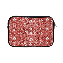 Flowers Pattern Collage In Coral An White Colors Apple Ipad Mini Zippered Sleeve by dflcprints