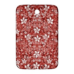 Flowers Pattern Collage In Coral An White Colors Samsung Galaxy Note 8 0 N5100 Hardshell Case  by dflcprints