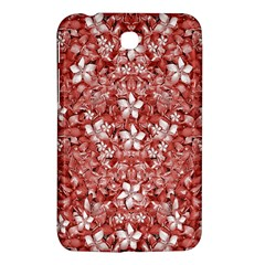 Flowers Pattern Collage In Coral An White Colors Samsung Galaxy Tab 3 (7 ) P3200 Hardshell Case  by dflcprints