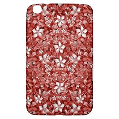 Flowers Pattern Collage in Coral an White Colors Samsung Galaxy Tab 3 (8 ) T3100 Hardshell Case  by dflcprints