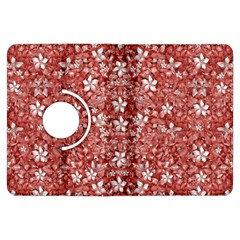Flowers Pattern Collage In Coral An White Colors Kindle Fire Hdx Flip 360 Case by dflcprints