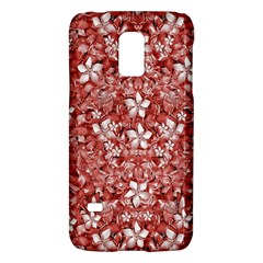 Flowers Pattern Collage In Coral An White Colors Samsung Galaxy S5 Mini Hardshell Case  by dflcprints