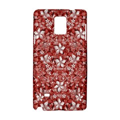 Flowers Pattern Collage in Coral an White Colors Samsung Galaxy Note 4 Hardshell Case by dflcprints