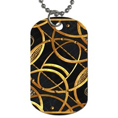 Futuristic Ornament Decorative Print Dog Tag (one Sided) by dflcprints