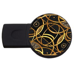 Futuristic Ornament Decorative Print 1GB USB Flash Drive (Round) by dflcprints