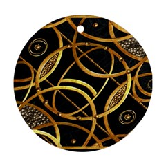 Futuristic Ornament Decorative Print Round Ornament (two Sides) by dflcprints