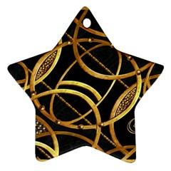 Futuristic Ornament Decorative Print Star Ornament (two Sides) by dflcprints