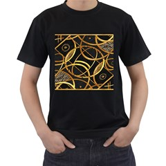 Futuristic Ornament Decorative Print Men s T Shirt (black) by dflcprints