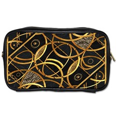 Futuristic Ornament Decorative Print Travel Toiletry Bag (one Side) by dflcprints