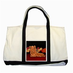 Cute Creature Fantasy Illustration Two Toned Tote Bag by dflcprints