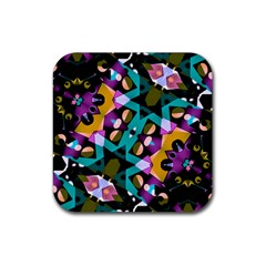 Digital Futuristic Geometric Pattern Drink Coaster (square) by dflcprints