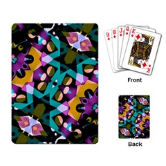 Digital Futuristic Geometric Pattern Playing Cards Single Design by dflcprints