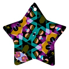 Digital Futuristic Geometric Pattern Star Ornament (two Sides) by dflcprints