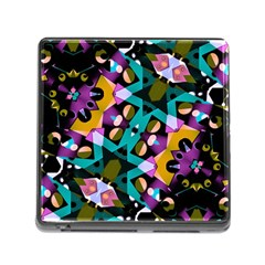 Digital Futuristic Geometric Pattern Memory Card Reader With Storage (square) by dflcprints