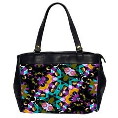 Digital Futuristic Geometric Pattern Oversize Office Handbag (two Sides) by dflcprints