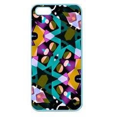 Digital Futuristic Geometric Pattern Apple Seamless Iphone 5 Case (color) by dflcprints