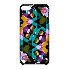 Digital Futuristic Geometric Pattern Apple Ipod Touch 5 Hardshell Case With Stand by dflcprints