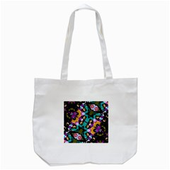 Digital Futuristic Geometric Pattern Tote Bag (white) by dflcprints
