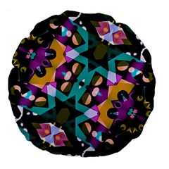 Digital Futuristic Geometric Pattern 18  Premium Flano Round Cushion  by dflcprints