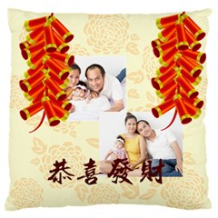 New Year By Ch   Large Flano Cushion Case (two Sides)   Lia57byz44f6   Www Artscow Com Front