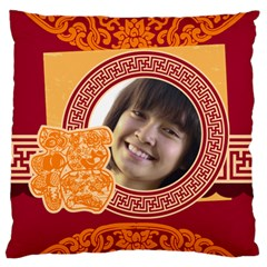 New Year By Ch   Large Flano Cushion Case (two Sides)   Qwuf7ge19fmc   Www Artscow Com Front