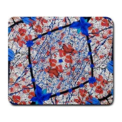 Floral Pattern Digital Collage Large Mouse Pad (rectangle) by dflcprints
