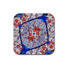 Floral Pattern Digital Collage Drink Coaster (square) by dflcprints