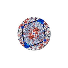 Floral Pattern Digital Collage Golf Ball Marker by dflcprints