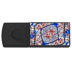 Floral Pattern Digital Collage 4gb Usb Flash Drive (rectangle) by dflcprints