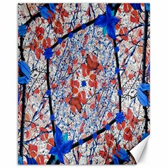 Floral Pattern Digital Collage Canvas 16  X 20  (unframed) by dflcprints