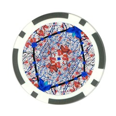Floral Pattern Digital Collage Poker Chip by dflcprints