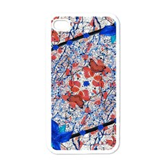 Floral Pattern Digital Collage Apple Iphone 4 Case (white) by dflcprints
