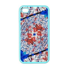 Floral Pattern Digital Collage Apple Iphone 4 Case (color) by dflcprints