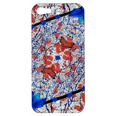 Floral Pattern Digital Collage Apple Iphone 5 Hardshell Case by dflcprints