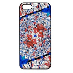 Floral Pattern Digital Collage Apple Iphone 5 Seamless Case (black) by dflcprints