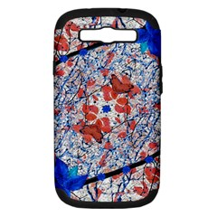 Floral Pattern Digital Collage Samsung Galaxy S Iii Hardshell Case (pc+silicone) by dflcprints