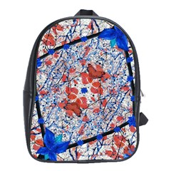 Floral Pattern Digital Collage School Bag (xl) by dflcprints