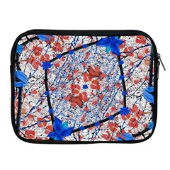 Floral Pattern Digital Collage Apple Ipad Zippered Sleeve by dflcprints