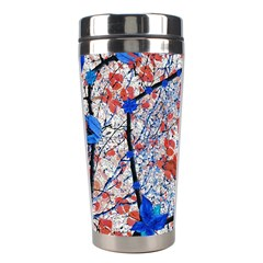 Floral Pattern Digital Collage Stainless Steel Travel Tumbler by dflcprints