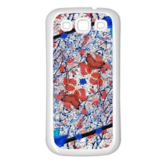 Floral Pattern Digital Collage Samsung Galaxy S3 Back Case (white) by dflcprints