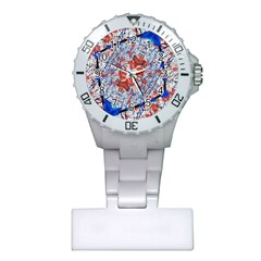 Floral Pattern Digital Collage Nurses Watch by dflcprints
